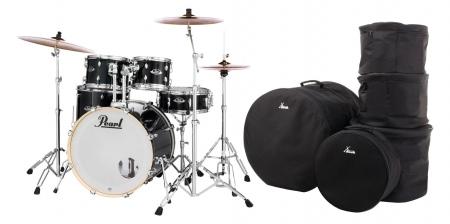 Pearl Export EXX725SBR/C31 Drumkit Jet Black Set mit Taschen