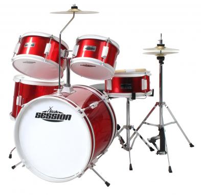 XDrum Junior Kinder Schlagzeug Rot inkl. Schule + DVD  - Retoure (Zustand: gut)