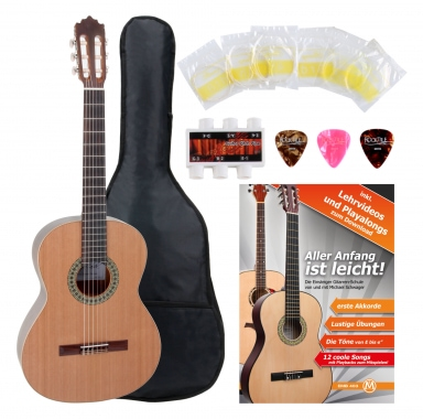 Antonio Calida GC201S 4/4 Classical Guitar Starter Set incl. 5-piece accessory set