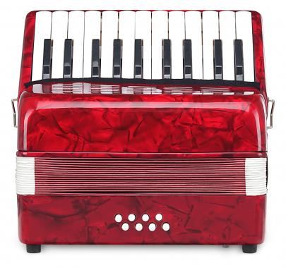 Classic Cantabile Secondo Kinder Akkordeon 8 Bass rot  - Retoure (Zustand: sehr gut)