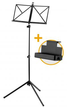 McGrey 100/2 B Notenständer schwarz Set inkl. Tasche und Ablagebox