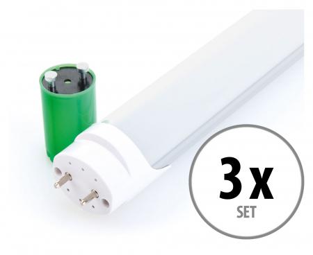 3x Showlite LED Tube Light T8W24K45F-1500mm Set (daylight white 4500 K)