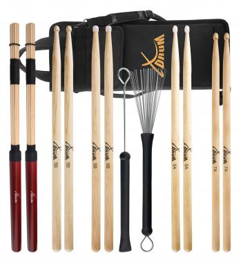 XDrum Schlagzeug Sticks Starter SET