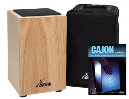 XDrum Primero Cajon natural, SET incl. book + download link for playalongs and gig bag