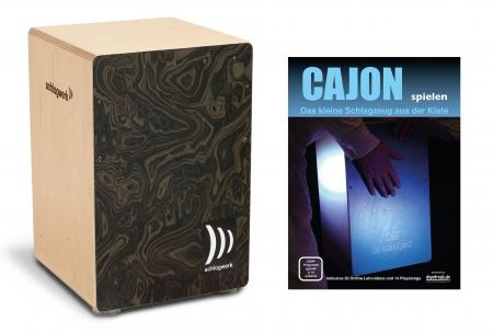 Schlagwerk CP4006 Cajon La Perú Night Burl Medium Set inkl. Cajonschule