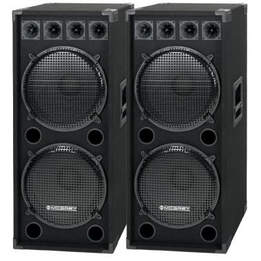McGrey DJ-2522 Enceintes Party basement / DJ-Box Paire 2 x 1500W