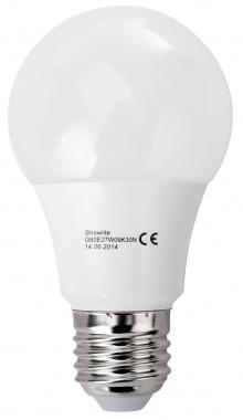Showlite ampoule LED G60E27W09K30N 9 Watt, 860 Lumen, socle E27, 3000 Kelvin