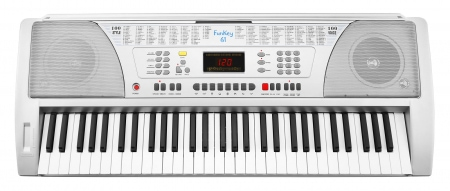 FunKey 61 SL Keyboard + Power Supply + Sheet Music Rack