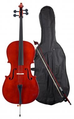 Classic Cantabile CP-100 Cello 4/4 SET inkl. Bogen + Tasche  - Retoure (Zustand: sehr gut)
