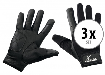 3-Piece Set XDrum Drummer Gloves L long