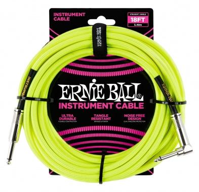 Ernie Ball 6085 Instrumentenkabel 5,49 m Neongelb