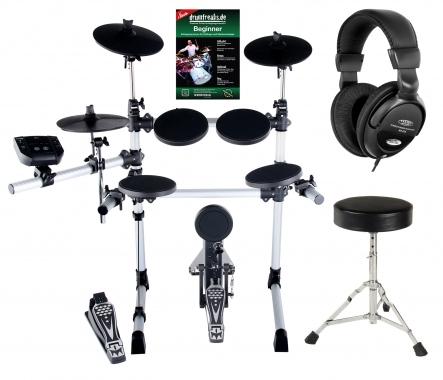 XDrum DD-402 complete E-Drumset, incl. drumkruk en koptelefoon