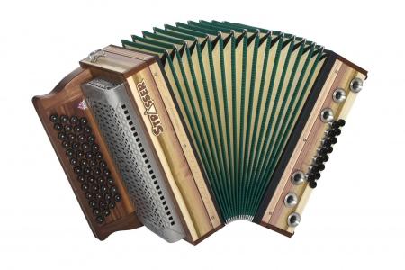 Strasser 4/III Hoamat Harmonika G-C-F-B mit X-Bass, Toulipie
