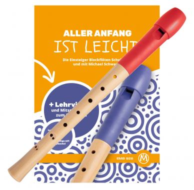 Classic Cantábile Flauta barroco rojo (incluye libro aprendizaje)