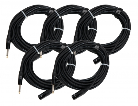 Pronomic Stage JMXM-10 câble audio mono cinch/XLR 10 m noir SET de 5