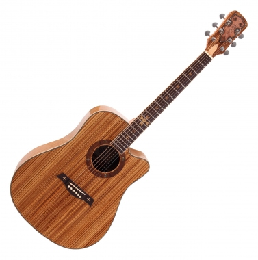 Rocktile Empire Acoustic Guitar Zebrano