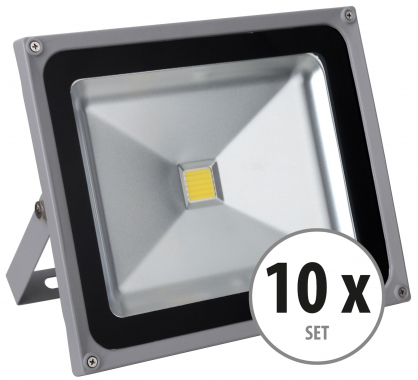 Showlite FL-2050 LED Fluter IP65 50 Watt 5500 Lumen 10er SET