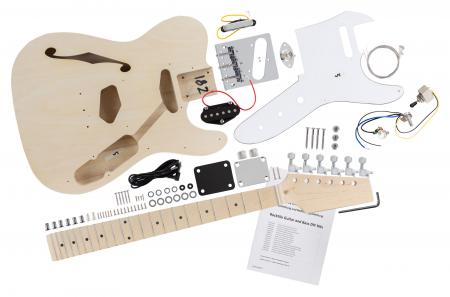 Rocktile Kit d'assemblaggio per Chitarra elettrica Hollowbody TL-Style