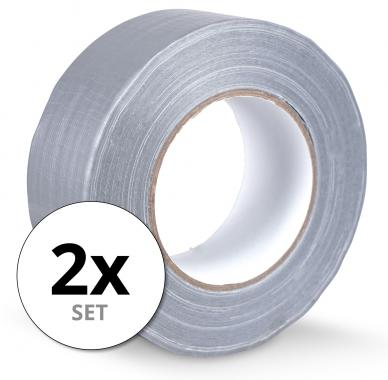 Stagecaptain DT-4850G-ECO Cloth Tape Duct Tape Gaffa Tape 50 m 2-Pack Gray