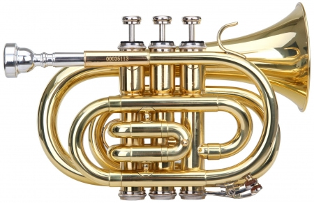 Classic Cantabile Brass TT-500 Tromba tascabile pocket Brass Sib ottone