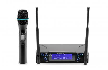 Pronomic UHF-103 True-Diversity microphone radio à la main set