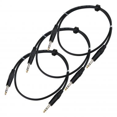 Pronomic Stage INSTS-1 jack cable 1 m Stereo 3 Piece Set