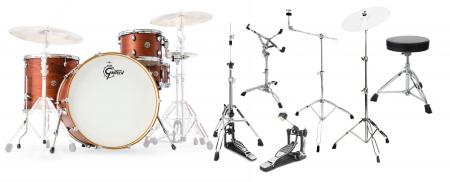 Gretsch CT1-R444-SWG Catalina Club Shellset Satin Walnut Glaze Set inkl. Hardware