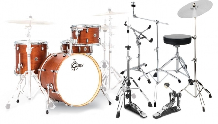 Gretsch CT1-J404-SWG Catalina Club Shellset Satin Walnut Glaze Set inkl. Hardware