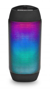 Beatfoxx LEDBeat portable LED Bluetooth speaker USB, SD, AUX, black