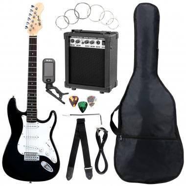 McGrey Rockit E-Gitarre ST-Komplettset Black  - Retoure (Verpackungsschaden)