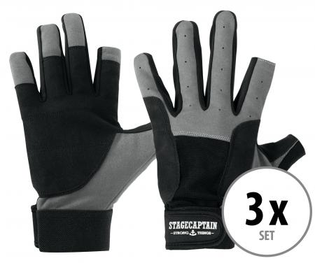 Set de 3 Stagecaptain Rigger gants M courts