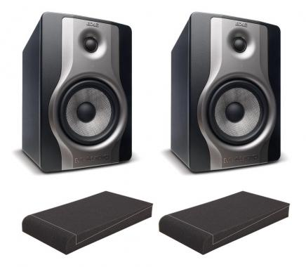 "M-Audio BX6 Carbon Studio Monitore SET mit Pronomic ISO-Stand 7"" Absorberplatten"