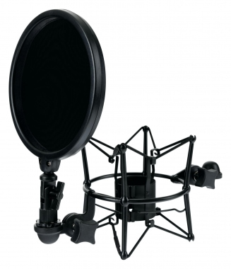 Pronomic MSP-45 Microphone Shock Mount with Pop Filter 45-52mm