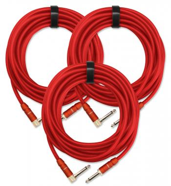 3-Piece SET Pronomic Trendline INST-6R Instrument Cable  6 m red