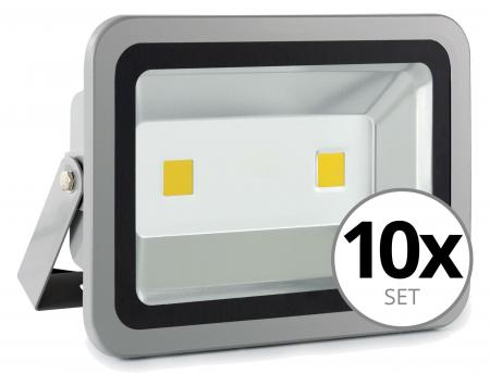 Set de 10 focos FL-2100 LED IP65 100 W 1100 Lumen