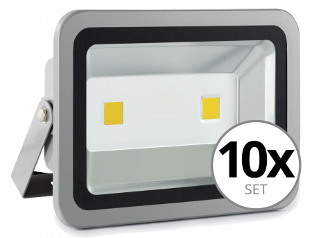 Showlite FL-2100 LED projecteur IP65 100 Watt 11000 Lumen SET de 10