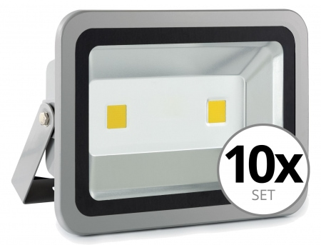 Showlite FL-2100 LED faretto IP65 100 Watt 11000 Lumen SET 10 pezzi