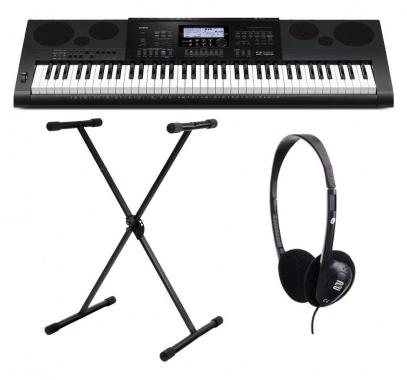 Casio WK-7600 Keyboard SET inkl. Ständer + Kopfhörer