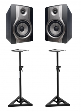 M-Audio BX6 Paar Carbon Monitore SET inkl. Stative