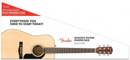 Fender CD-60S Dreadnought Pack NAT