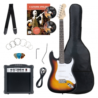 Rocktile Banger's Pack E-Guitar SET Sunburst 8 Pieces
