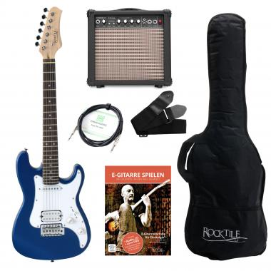 Rocktile Sphere Junior E-guitar 3/4 Blue SET including amplifier, cable and strap
