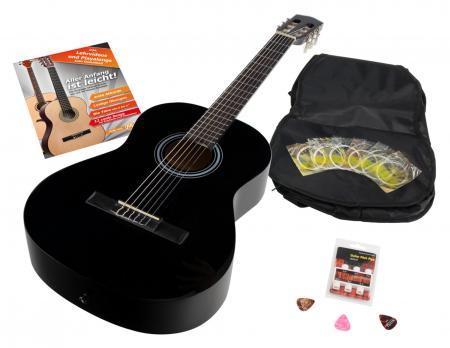 Calida Benita Concert Guitar Set 7/8 black with accessories