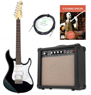 Yamaha Pacifica 012 E-Gitarre + Amp + Kabel, Black