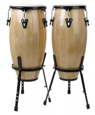 "Congas de XDrum, set de 2 cajas  natural 10"" - 11"""