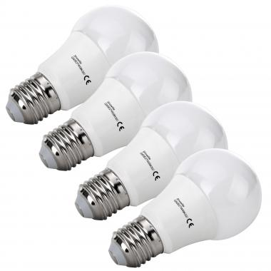 Four-Piece SET Showlite LED bulb G60E27W09K30D 9 Watt, 860 lumen, E27, 3000 Kelvin, dimmable