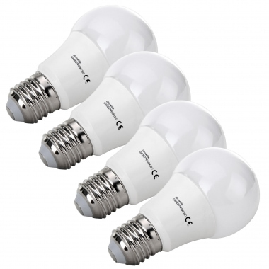 4x SET Showlite LED ampoule  G60E27W06K30N 9 Watt, 860 Lumen, socle E27, 3000 Kelvin, dimmable