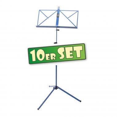 SET of 10 Classic Cantabile 100 Music Stand, Blue
