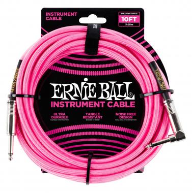 Ernie Ball 6078 Instrumentenkabel 3,05 m Neonpink