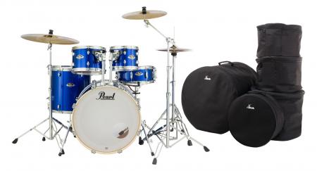 Pearl Export EXX725BR/C717 Drumkit High Voltage Blue Set mit Taschen